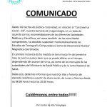 Comunicado Coronavirus - Centro de Alta Tecnología